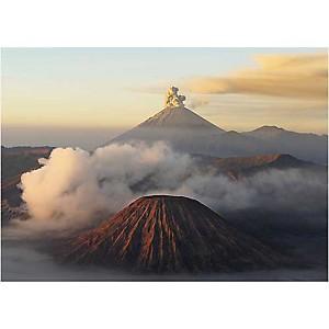 Volcan Bromo, Java, Indonésie, Bruno MORANDI, affiche 50x70 cm