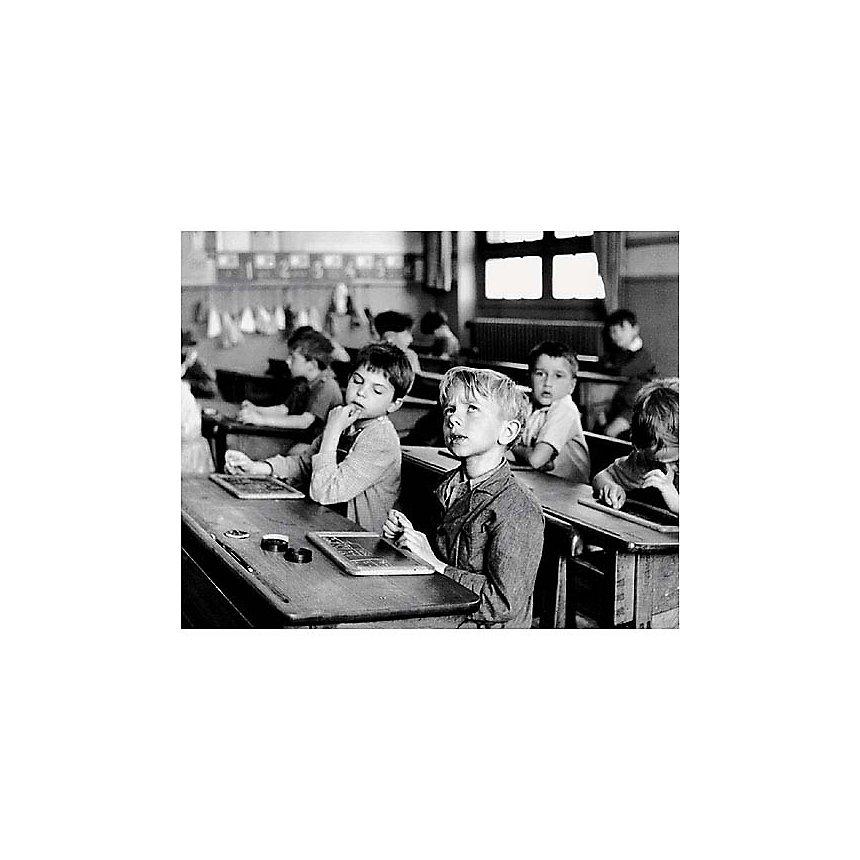 L'information scolaire, 1956, Robert DOISNEAU (1912-1994), affiche 24x30 cm