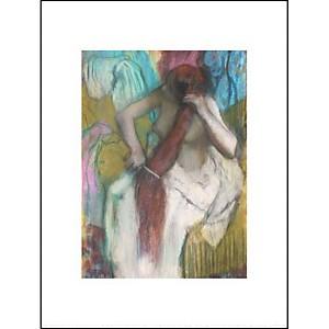 Femme se peignant ou La chevelure, Edgar DEGAS (1834-1917), affiche 30x40 cm
