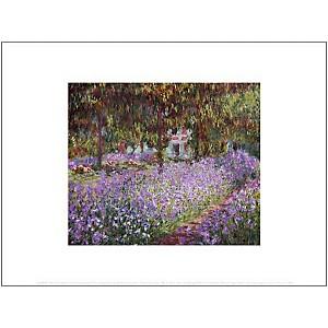 Le jardin de l'artiste à Giverny (détail), Claude MONET (1840-1926), affiche 30x40 cm