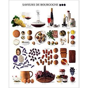 Saveurs de Bourgogne, Atelier Nouvelles Images, affiche 40x50 cm