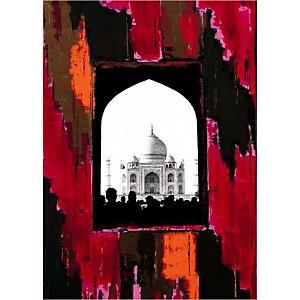 Taj Pink , Anne VALVERDE, affiche 50x70 cm