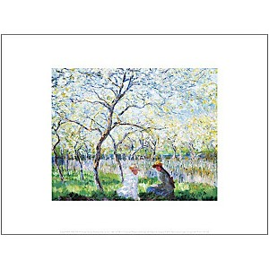 Printemps, Claude MONET (1840-1926), aff