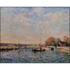 Le Canal du Loing, Alfred SISLEY, affich...