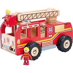 Camion de pompier en bois de pompier