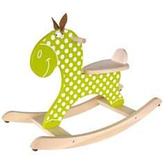Cheval à bascule en bois - Vert