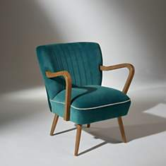 Fauteuil Sixty Bleu Turquoise