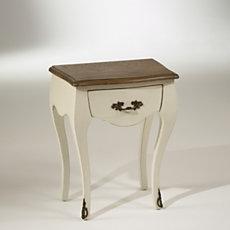 Chevet blanc d'ivoire, plateau c...
