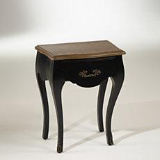 Chevet noir,  plateau chêne, 1 t...