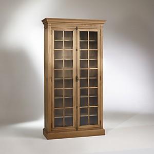 Vitrine, chêne, 5 étagères, 2 portes, HE