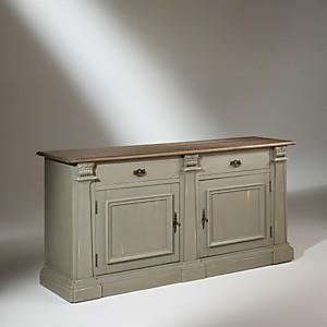 Buffet plateau chêne, 2 portes, 2 tiroir