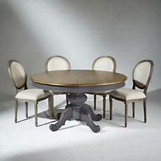 Table extensible 8 à 10 couverts, patine...