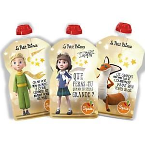 Lot de 3 gourdes SQUIZ réutilisables 130ml Le Petit Prince Etoiles