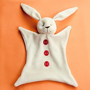 Doudou lapin bio boutons