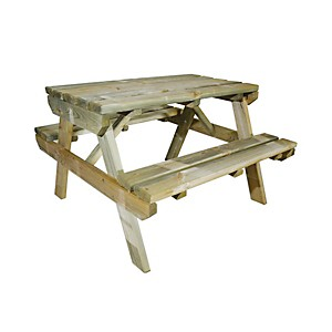 Table de pique nique enfant Chinchilla en bois