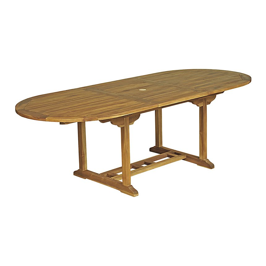 Table ovale Baya Teck Huilé 6/8 places