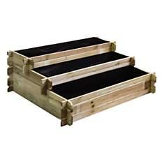 Carré potager en bois à étages