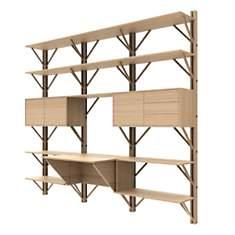 Bibliothèque avec bureau intégré 240 cm...