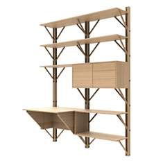 Bibliothèque avec bureau intégré 160 cm...
