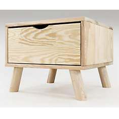 Chevet Scandinave Viking bois + tiroir