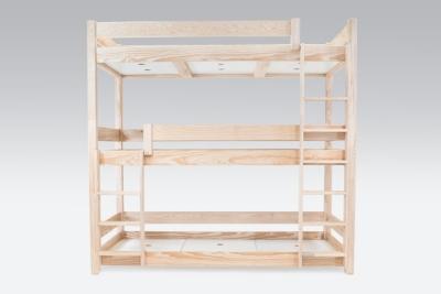lit superpos abc 3 places en bois massif 90x190. Black Bedroom Furniture Sets. Home Design Ideas