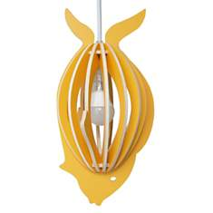 Zooo - Lampe à suspendre poisson en bois