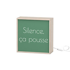 Boite lumineuse - Silence Ca pou...