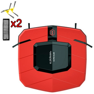 Aspirateur Robot e.ziclean Ultra Slim Red V2