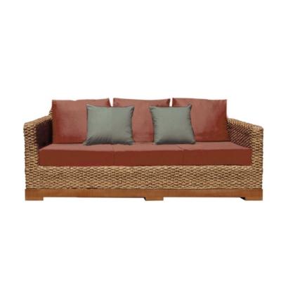 Canapé 3 places en fibres tressées Authentic