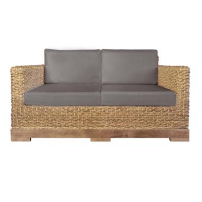 Canapé 2 places bio en fibres tressées et bois