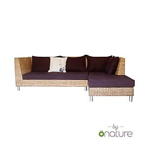 Canapé d'angle tissu bio