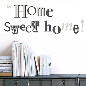 Sticker mural Home Sweet Home (MAILLOT )