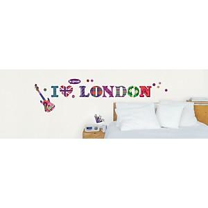 Sticker mural I love London (TESTANIERE )