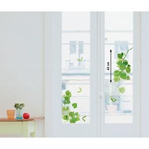 Sticker fenêtres Feuilles vertes (LES 4 MAINS )