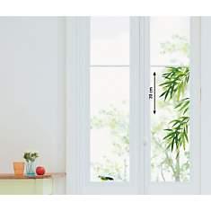 Sticker fenêtres Feuillages et oiseau (A