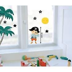 Sticker mural Pirate aux etoiles (CARMEN