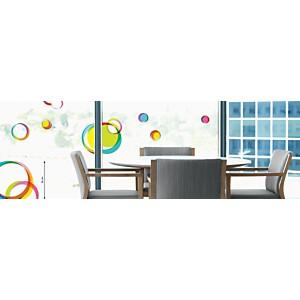 Sticker fenêtres Cercles multicolores (LA COCOTTE  )
