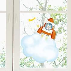 Sticker fenêtres Fusée (HELO ITA )