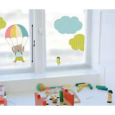 Sticker mural Ours parachute (ITA  HELO ...