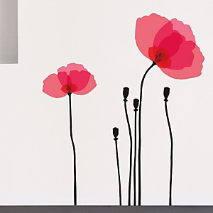 Sticker mural Poppy transparent (LA COCOTTE  )