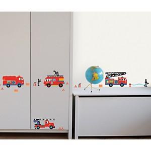 Sticker mural Camions de pompiers (PRIGE