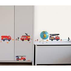 Sticker mural Camions de pompiers (PRIGE...