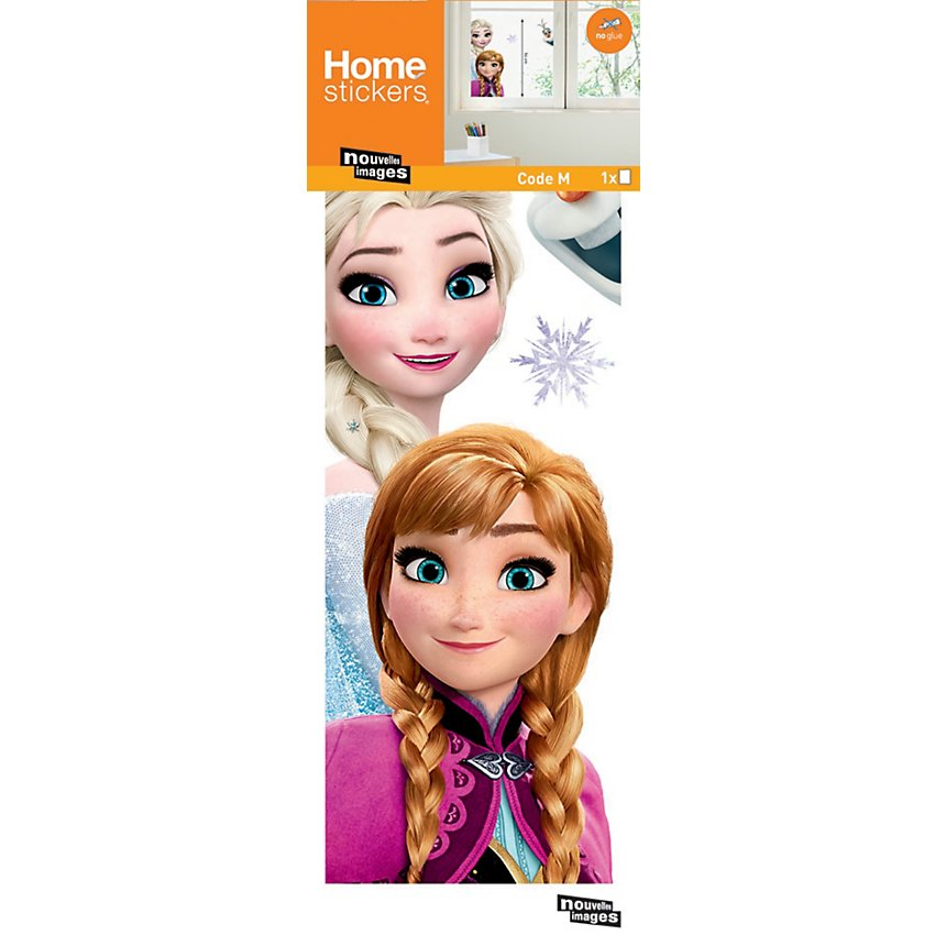 Sticker mural Frozen Anna Elsa (Disney)