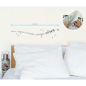 Sticker mural Dormir imaginer inventer songer rêver