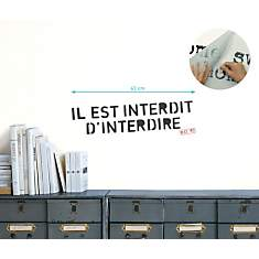 Sticker mural Il est interdit d'interdir