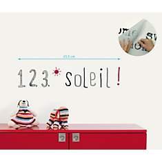 Sticker mural 1  2  3  soleil !
