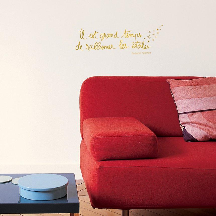 Sticker mural Rallumer les étoiles (Guillaume Apollinaire)