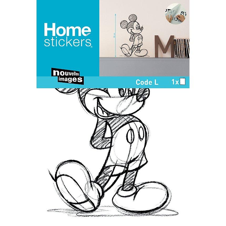 Sticker mural Mickey sketch small (Disney)