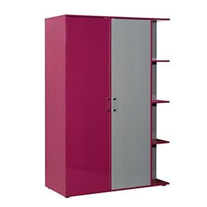 Armoire dressing 2 portes et rayonnages