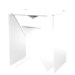 Table de chevet 50cm avec rivet et tiroi